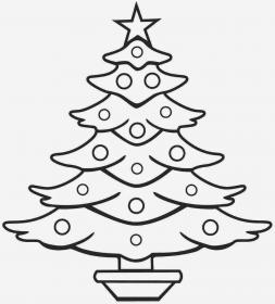 tree christmas drawing coloring line outline simple printable sketch pages clipart draw pencil xmas children clip printables decorations santa stuff