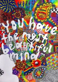 trippy hippie boho drawing psychedelic indie draw grunge colorful mind hipster flowers artist paint colour trip drawings things hippy doodle