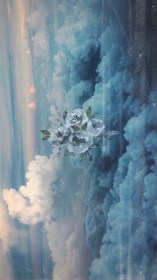 sky nancy medina aesthetic paintings iris flower painting pastel iphone artist wallpapers laurie pace texas backgrounds delphiniums fire justus hydrangea