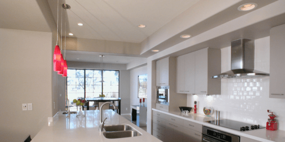 recessed lighting ceiling lights should install above know kitchens incredibly powerful solutions line re