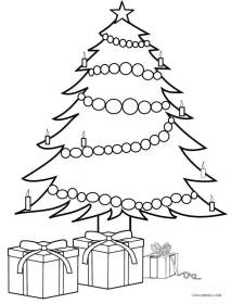 coloring christmas tree pages presents printable drawing xmas cool2bkids trees present simple crafts merry print gifts clipart outline colorings sketch