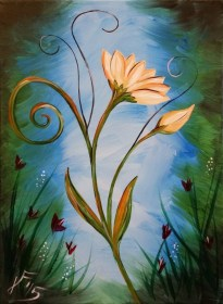 painting acrylic easy beginners canvas beginner paintings abstract paint simple flower step tutorials beginning cartoondistrict flowers cartoon try techniques watercolor