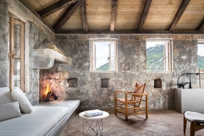 medieval homes stone interior croatia living historic room houses modern fortress fireplaces warmed frances renovated ready winter scott rees roberts