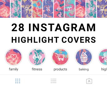Marble Instagram Story Highlight Icons Set of 28