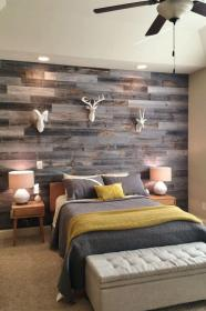 wood wall walls stained gray designs patchwork homebnc