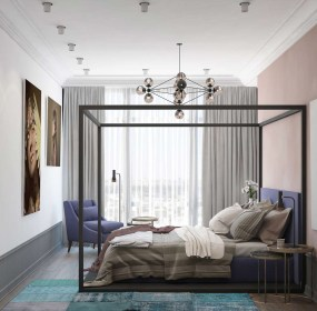bedroom aesthetic decor themes apartment modern bright purple theme pastel natural brown wooden homes mauve shades distinctively pair bedrooms colors