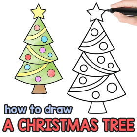 tree christmas drawing draw easy step drawings directed crafts tutorial peasy fun guide tutorials diy charming finds such another check
