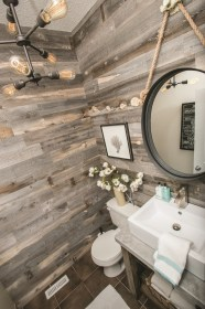 accent wood wall walls stikwood reclaimed rustic bathroom barn interior pallet weathered bath clients wow tips three remodeling paneling panel