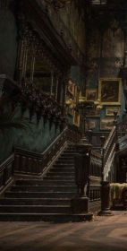 gothic stairs academia dark aesthetic victorian concrete iphone library slytherin hogwarts makeover session dracarys moroccan stencil exterior potter collage staircase