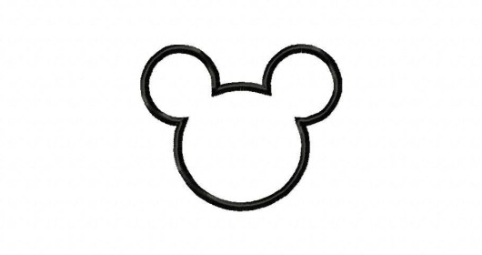 mickey outline mouse silhouette head minnie clip clipart cliparts face dst file embroidery headoutline imagui library description clipartmag clipartbest gclipart