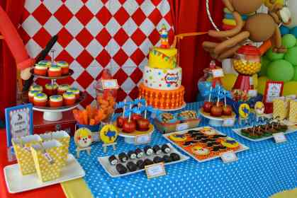 birthday party boy boys carnival 3rd cake theme decoration parties three circus spectacular homemade diy young adults