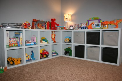 storage toy toys ana cubbies basement solution diy shelves shelf organizer inexpensive practical shelving bins playroom living rooms build system