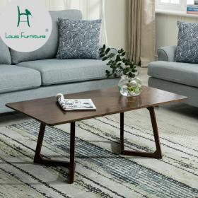 coffee table living round modern simple wooden tea rectangle louis tables furniture