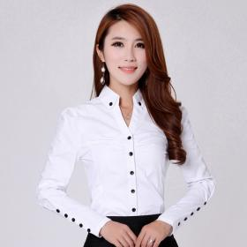 blouse office elegant blouses shirt cotton shirts casual sleeve spring woman long plus 3xl solid