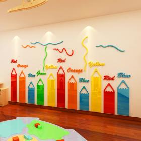 kindergarten classroom wall corridor stairs decor decorate stickers 3d sticker decals vinyl layout adhesive pencil self acrylic personalised