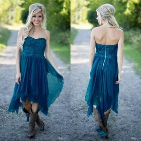 teal bridesmaid dresses country dress short dark beach simple lace maid cheap low honor wedding ruffles party chiffon gowns under