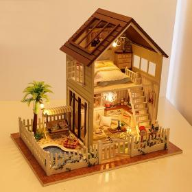 Home Decoration DIY 3D Doll House Wooden Doll Houses Miniature DIY font b Dollhouse b font