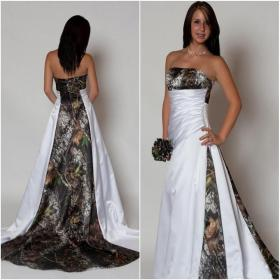 dresses bridal line camo camouflage strapless realtree gowns empire waist pleats sweep train country gown arrival lace plus betra bride