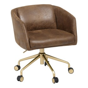 Pink Office Chair With Gold Legs Novocom Top