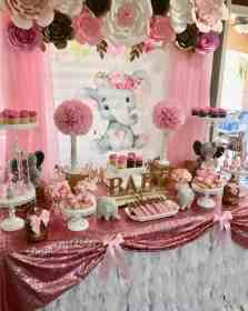 elephant shower themed theme pink decorations themes showers cookies delicate kennedy creations london