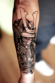 samurai tattoo tattoos forearm mask evil arm sleeve designs right traditional awesome japanese ink meaning meanings blowing mind showed they