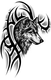 tribal wolf tattoo tattoos designs outline head realistic sample wolves sleeve shoulder askideas howling lobo arm amazing tatoos right a4