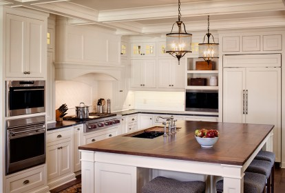 farmhouse kitchen remodeling remodel 1800s lighting ceiling 1880s kitchens moore benjamin fixer upper gray coffered mist paint bartelt oc cabinets