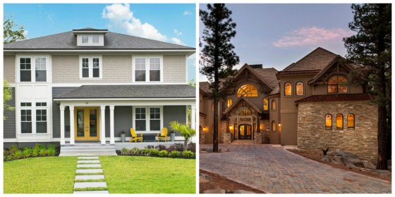 exterior paint colors shades trends door stylish differing focusing tones contrasting decorate third couple