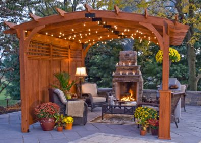 pergola pergolas wood arched hearthside outdoor vinyl patio wooden fireplace backyards ny structures area