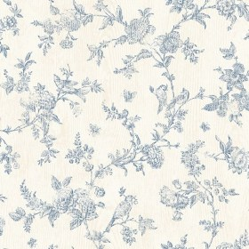 3119 02192 French Nightingale Blue Floral Scroll