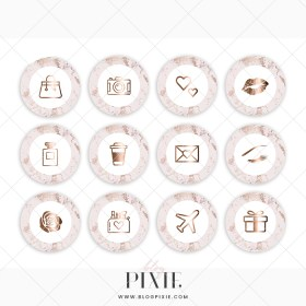 instagram gold rose highlight icons pink marble covers whatsapp