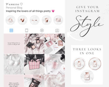 instagram gold rose marble icons highlight story highlights covers