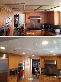 Kitchen Soffit Flat Before After 1