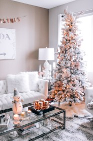 rose gold decor christmas blush room living pink navidad decorations decoration tree themed arboles moderna blondieinthecity blondie trees para modernos