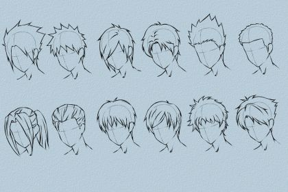 Anime Hairstyles Reference Male Novocom Top