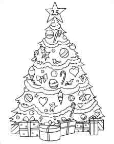 tree coloring christmas pages drawing santa advent calendar claus printable colouring presents print december draw pencil getdrawings sketches colorings getcolorings