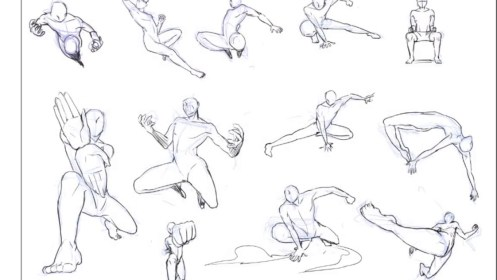 drawing poses fighting battle pose sketch dynamic action drawings getdrawings