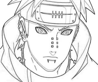 naruto yahiko portrait pain coloring pages drawing paper getdrawings