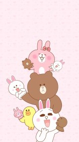 iphone kawaii wallpapers cute phone bunny line backgrounds anime cartoon friends friend animals things brow sticker wallpaperaccess sanrio layout cony