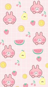 kawaii phone wallpapers backgrounds pink screen strawberry cute cartoon background iphone candy emojis sanrio wallpaperaccess food holiday lamb pizza lock