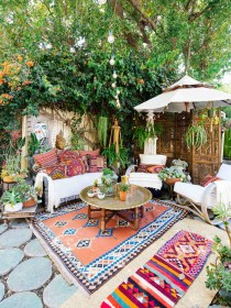 boho patio outdoor spaces living backyard inspiration vibes bring tips favorite shoes outdoors weather