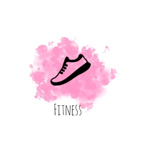 highlight fitness instagram pink watercoloring