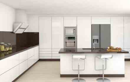 White Ultra Modern Kitchen Designs Novocom Top