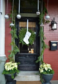 door christmas porch decor decorations decorating cool diy stunning outdoor ornaments decoration wreath idea hanging digsdigs holiday bells outside lights