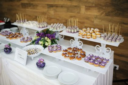 wedding trends dessert food table mesa boda shower dulce decorar chocolate dishes