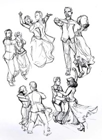 drawing reference waltz dancing couple references sketches drawings artists getdrawings