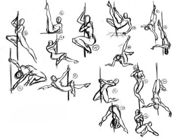pole dancing dance poses drawing reference sketches gordon pose dancer drawings references artists sketch draw steve action 2005 figure steven
