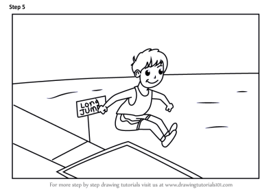 Learn How to Draw a Boy Long Jump Sports Scene (Other