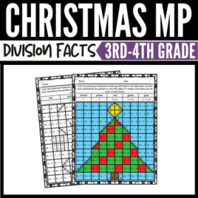 math division christmas worksheets mystery