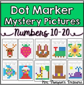 Dot Marker Mystery Picture Activities Numbers 10 20 by Mrs